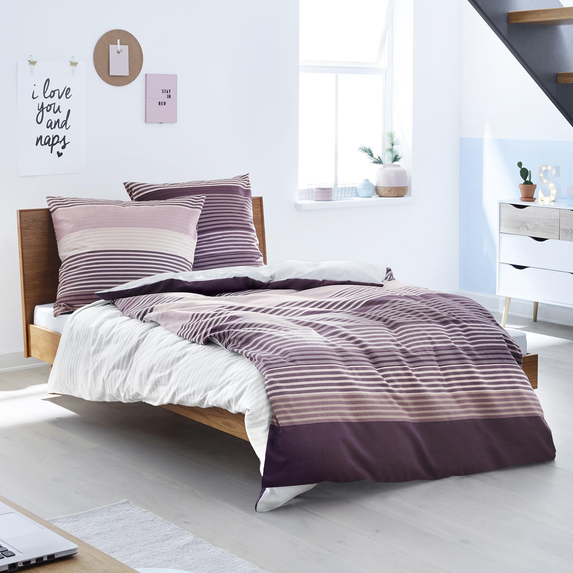feinflanellbettw sche s oliver ibena online shop. Black Bedroom Furniture Sets. Home Design Ideas