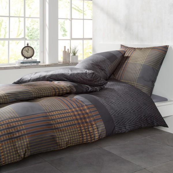 bugatti bettw sche 135x200cm flauschig warme biberbettw sche 100 baumwolle grau braun 2. Black Bedroom Furniture Sets. Home Design Ideas