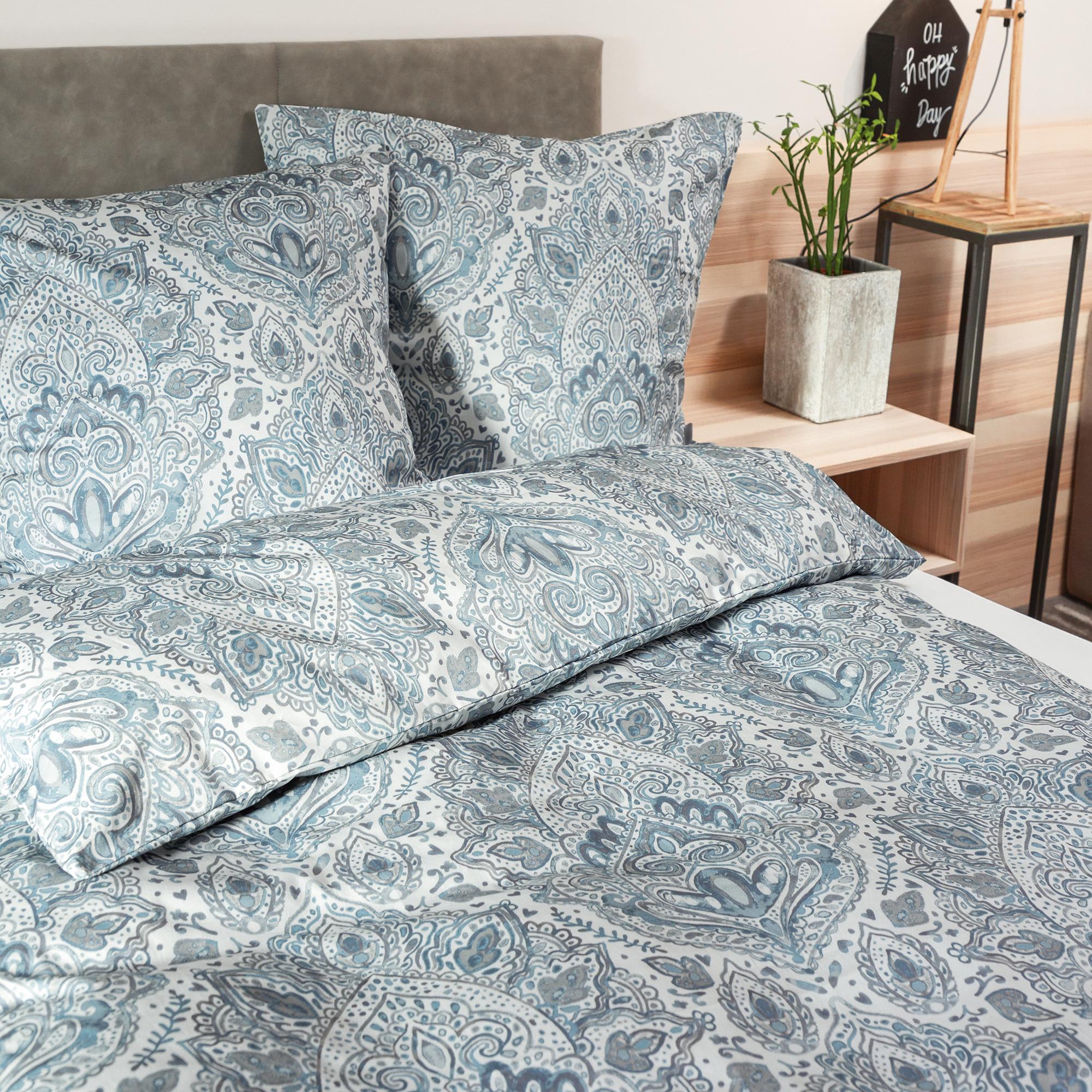 zeitgeist bettw sche 135x200cm hochwertiger mako satin. Black Bedroom Furniture Sets. Home Design Ideas