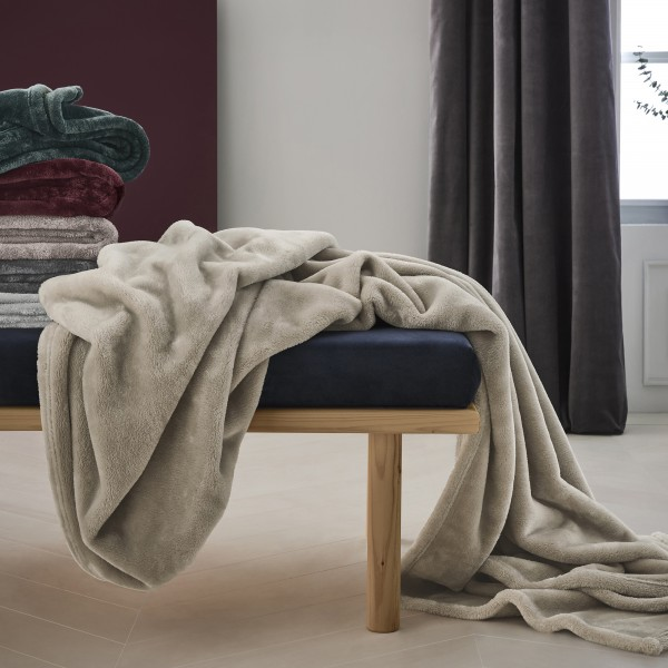Fluffy-Flanell-Decke s.Oliver 3338