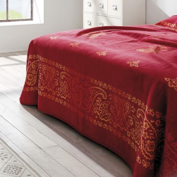 bett berwurf ibena indore 0998 kuscheldecke xxl orient rot tagesdecke 220x260 cm hochwertige. Black Bedroom Furniture Sets. Home Design Ideas